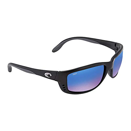 Costa Del Mar Zane Sunglasses, Black, Blue Mirror ()