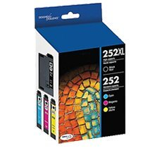 NUINKO Compatible Ink Cartridge Replacement for Epson T252 ( Black,Cyan,Magenta,Yellow ) (Epson Ink T252)