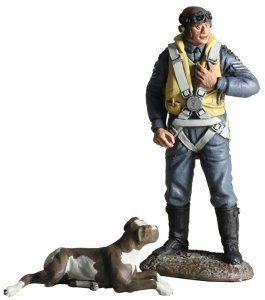 Usaaf Fighter Pilot - W. Britain 25019 RAF Commemorative Set - Fighter Command RAF Pilot, 1943 with Faithful Comapnion