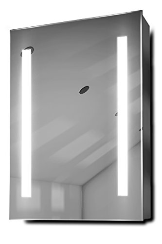 DIAMOND X COLLECTION Jace LED Bathroom Mirror Cabinet with Demister Pad, Sensor -