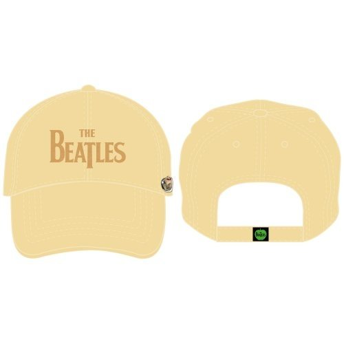 The Beatles Drop T Logo Cream Distressed Baseball Cap