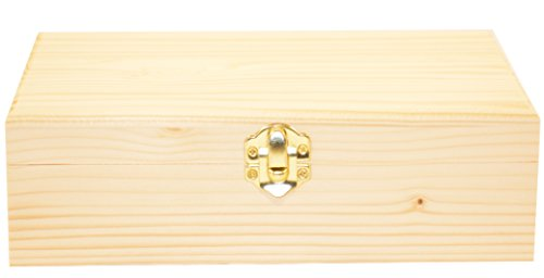 Darice 9151-58 Rectangle Wood Box, 8-1/4-Inch (Wooden Box)