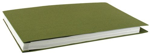 Construction Recycled Binder - 11x17 Pressboard Binder, Recycled Fiber, Pack of 10, Moss (526339)
