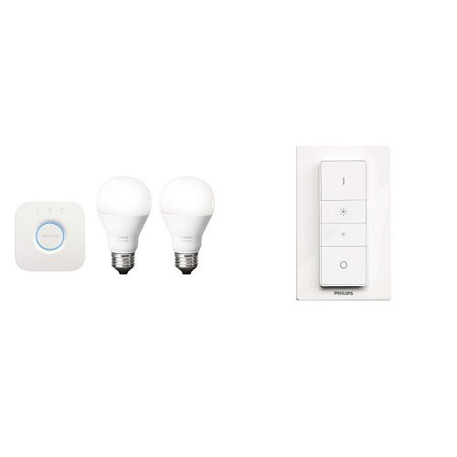 Philips Hue White Starter Kit + Hue Dimmer Switch