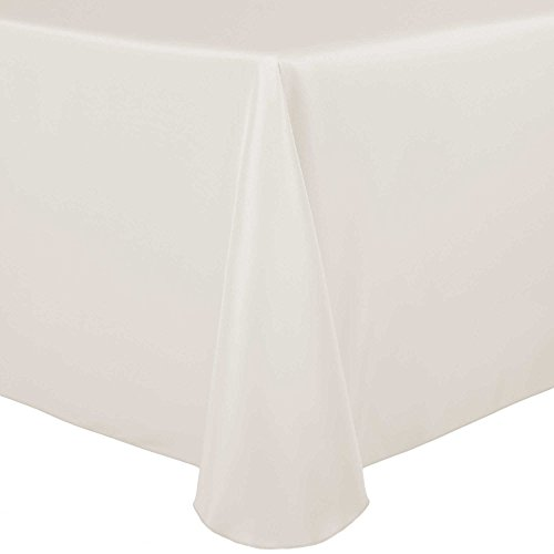 Oyster Linen - Ultimate Textile 108 x 132-Inch Oval Polyester Linen Tablecloth Oyster