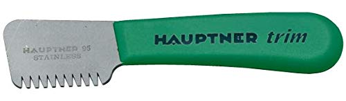 Hauptner 68530000 Trimming Knife Trim Right 13 cm Extra Coarse Tooth for Large Trimming of Top Hair, Green by Hauptner