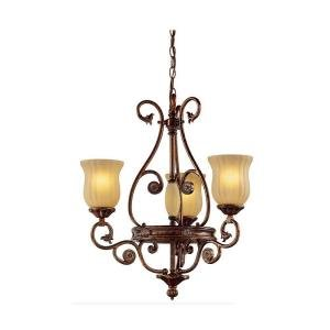 Hampton Bay Freemont Collection Antique Bronze Finish 3 Light Chandelier 13384-012 (Chandelier 3 Bronze Light Finish)