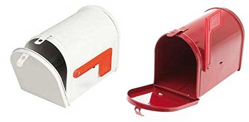 Little Mailbox, Post Office Play, Set of 2: Red and White