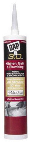 DAP 00790 9 oz White DAP 3.0 Kitchen, Bath & Plumbing HP Sealant