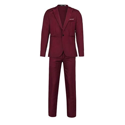 31iHMC7xSgL. SS500  - Sunward Men Slim Button Suit Pure Color Dress Blazer Host Show Jacket Coat & Pant