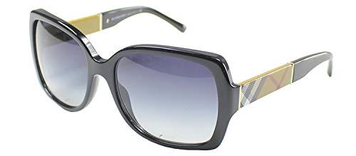 Burberry BE4160 34338G Black BE4160 Square Sunglasses Lens Category 3 Size 58mm (Burberry Handbags For Women)