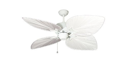 Bombay Tropical Ceiling Fan in Pure White with 50″ Pure White Blades