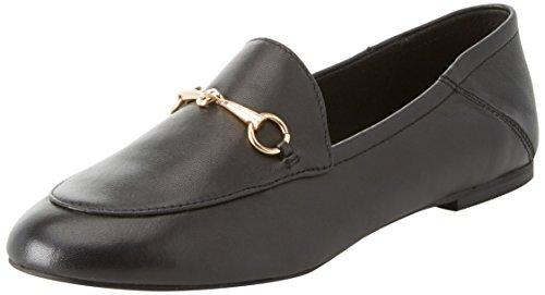 Windsor Smith Dani, Mocassini (Loafer) Donna Nero (Black Leather 001)