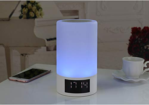 xingganglengyin Wireless Bluetooth Speaker Smart LED Bedside Light Touch Colorful Light with Alarm Clock Display Subwoofer by xingganglengyin (Image #3)