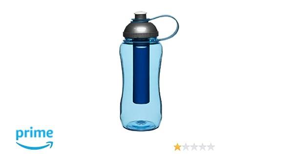 Sagaform - Botella con pistón de hielo, color: azul: Amazon.es: Deportes y aire libre