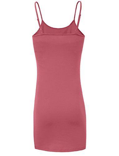 J. J. Lovny Womens Basic Spaghetti Strap Fitted Tunic Top Dress (34 Colors) Jlwdr22_mauve Lovny Des Femmes De Courroie De Spaghetti De Base Supérieure Robe Tunique Équipée (34 Couleurs) Jlwdr22_mauve