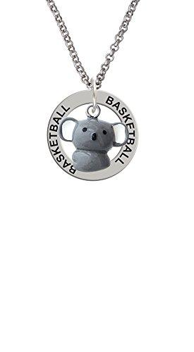 Resin Kuala Bear - Basketball Affirmation Ring Necklace