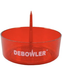 Debowler (Transparent Red) Acrylic Ashtray with Built in Poker