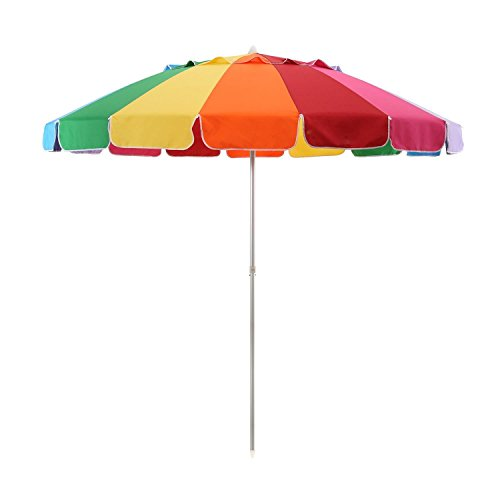 Everyday Giant 8′ Rainbow Beach Umbrella with Carrying Case and Anchor (Umbrella Only) Review