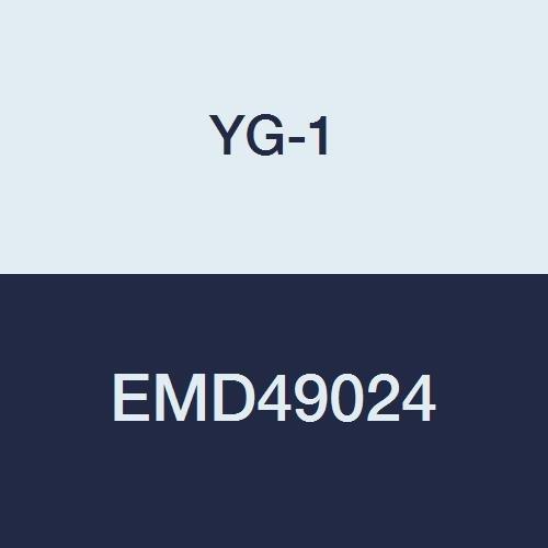 3//8 2-1//2 Length Multiple Helix Regular Length 4 Flute YG-1 EMD49024 Carbide V7 Mill Steel Corner Radius End Mill