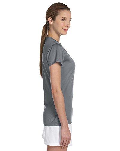 New Balance Ndurance LadiesÆ Athletic V-Neck T-Shirt Gravel