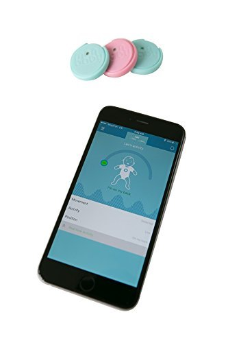 New MonBaby Smart Button - a Smart Breathing and Movement Monitor - White