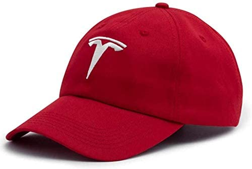 Premium Tesla Logo Accessories Mens Adjustable Closure Baseball hat