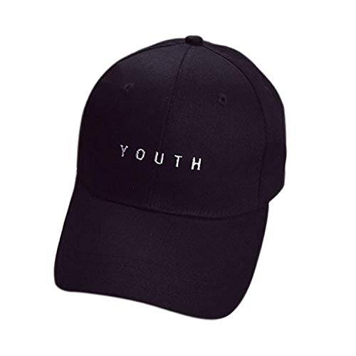 ♡Londony♡ Women's Athletic Trucker Hat Mesh Cap Dad Hat Campaign Embroidered USA Hat | Baseball Bucket Trucker Cap Black