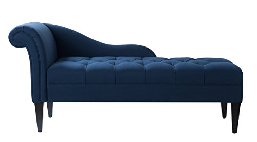 Jennifer Taylor 62020-878 Harrison Right Chaise Lounge Single Midnight Blue
