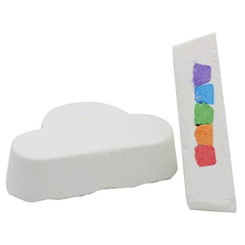 - Iulove_kitchen&dining&bar Cloud Bath Bomb Rainbow Cloud Floating Bath Bath Bomb Oil Bath Bombs Bulk
