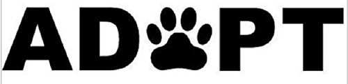 """ADOPT Car Sticker Decal Car Window Dog Cat Pet Rescue Puppy Car Styling 8x2"""" Shipped from USA"""