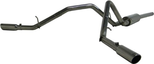 Mbrp Dual Exhaust - MBRP S5056AL Aluminized Dual Split Side Cat Back Exhaust System