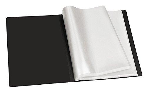 Veloflex 4420180 Clasificadora hojas (A4, con 20 hojas Clasificadora plastificadas. (40 páginas), PP), color negro, 3 unidades 17dc41