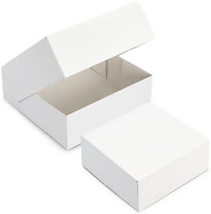 FaisTonGateau – Lote de 50 Cajas Tarta 28 x 8 – 50 Cajas repostería (Cuadrada) Blanca: Amazon.es: Hogar