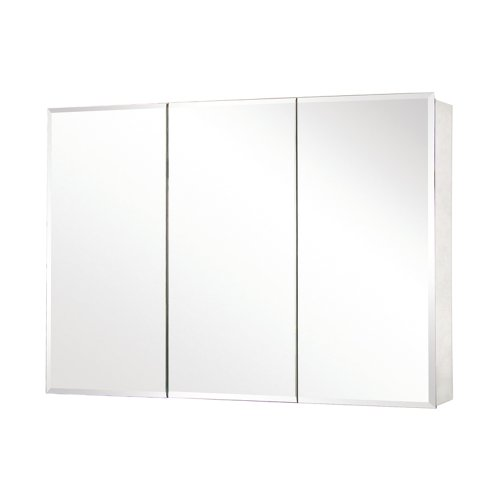 Pegasus SP4588 26-Inch by 48-Inch Tri-View Beveled Mirror Medicine Cabinet, Clear (48 Inch Mirror Medicine Cabinet)