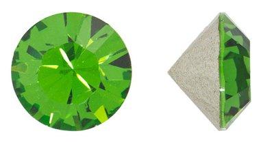 - Swarovski Elements Crystal Fern Green Chatons (pp32, Approx. 4mm, Xillion Round Cut)