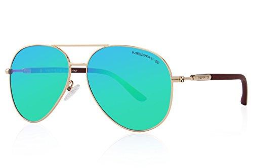 Sunglasses Men Aviator Sun Glasses Green Color Brand Design - 1