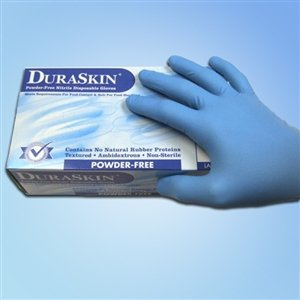 6 Mil Blue Nitrile Food Gloves, PF, LG, 1,000/case