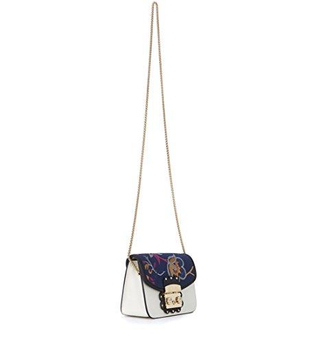 Furla Metropolis Arabesque Mini Crossbody - Borse a tracolla Donna, Multicolore (Petalo/ Toni Fucsia), 6.5x12x17 cm (B x H T)