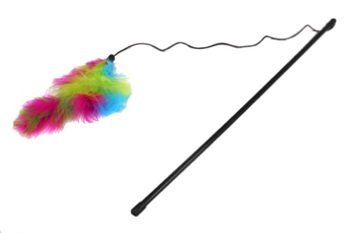 Cat A Lack Wand with Feather Boa Cat (Buy Feather Boa)