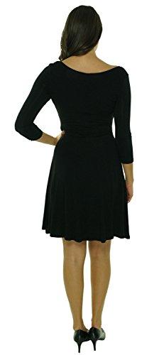Calvin Klein Pleated 3/4 Sleeve Women Petite Sheath Dress