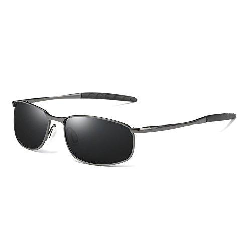 UV400 Clásico TL Sol polarizadas Gris Sol Tonos Vintage Plata Sunglasses de de Retro gray Gafas Hombres gray Hombres Gafas x6ng0rwq6