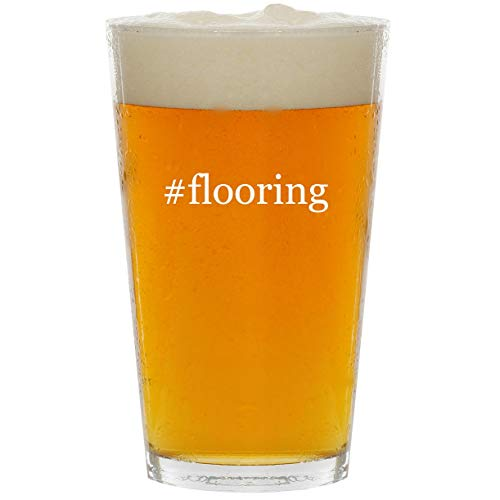 #flooring - Glass Hashtag 16oz Beer Pint