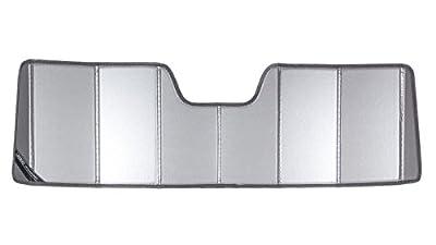 Covercraft UVS100(UV11186SV) - Series Custom Fit Windshield Shade for Select Jeep Wrangler Models - Triple Laminate Construction (Silver)