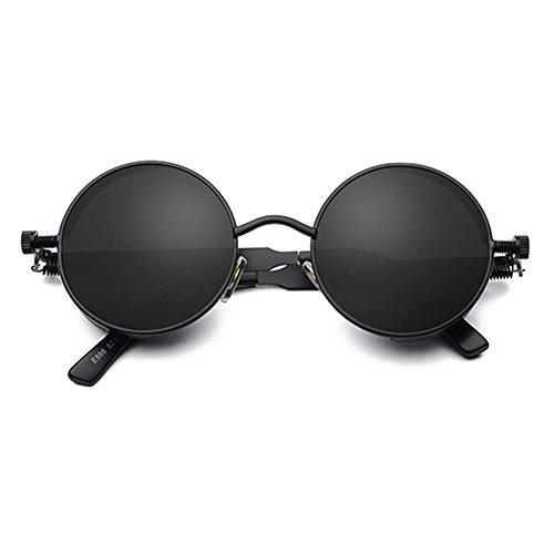 Classic Retro STEAMPUNK C3 sol Mujer Hombre de de sol Gafas Vintage Juleya UV400 redondas Gafas Gothic OItHwqZ