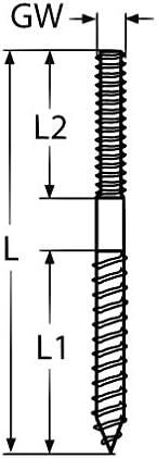 2 St/ück M10x150 Edelstahl A4 Stockschraube Rechtsgewinde Stockschrauben Schraubstifte Gewinde Schraube Stift