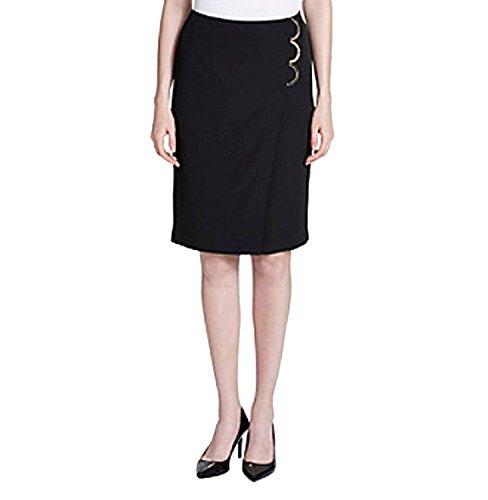 Calvin Klein Embellished Pencil Skirt (Black, 8) by Calvin Klein