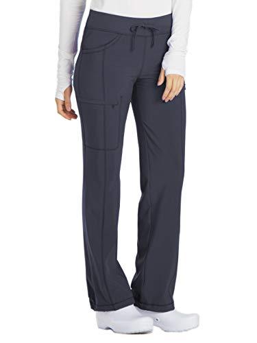 Cherokee Women's Size Infinity Tall Low-Rise Straight Leg Drawstring Pant, Pewter, Large ()