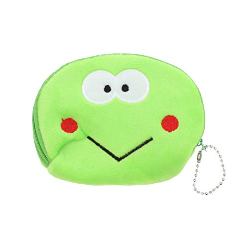 Large Animal Face Coin Purse Plush Wallet - Lime