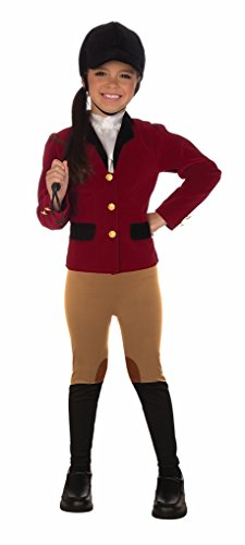 Toddler Equestrian Costume - Horse Woman Jockey Toddler size (Horse And Jockey Fancy Dress Costume)